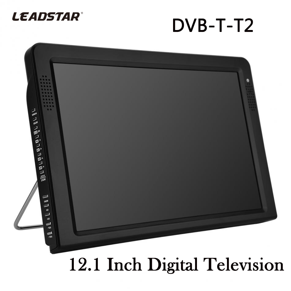 LEADSTAR DVB-T-T2 12.1 Inches TVs Televisions Rechargeable Digital Color Car TV Television Player TFT-LED Screen TV Televisions 11 6 inches portable mini digital color analog led tv dvb t dvb t2 rechargeable television player tft led screen atsc hdmi input