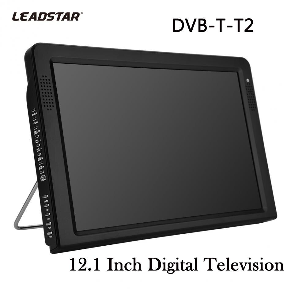 LEADSTAR DVB-T-T2 12,1 Zoll TVs Fernseher Wiederaufladbare Digitale Farbe Auto TV Fernsehen Player TFT-LED Bildschirm TV Fernseher