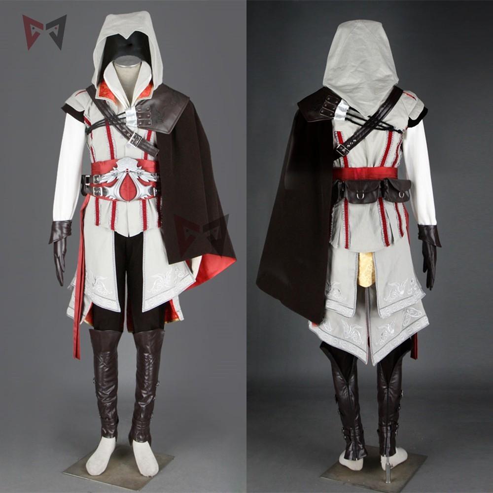 Hot creed cosplay costume ezio assasin connor sweater pants coat 16 PCS Halloween set for man