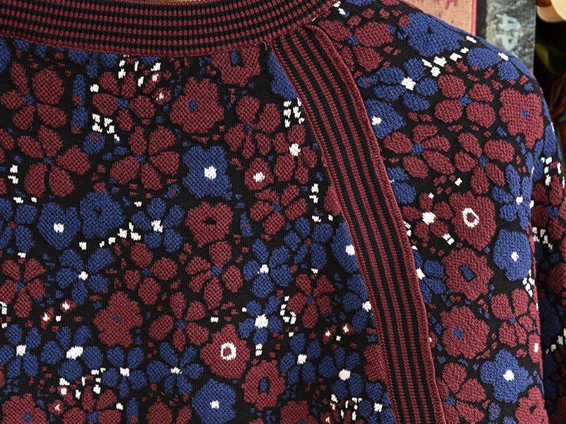 Cachemire Manches Tops Piste Designer Imprimé Jumper À Hiver Femmes En Cru Vêtements Femelle Pull De 2018 Longues Noël aBYqwv