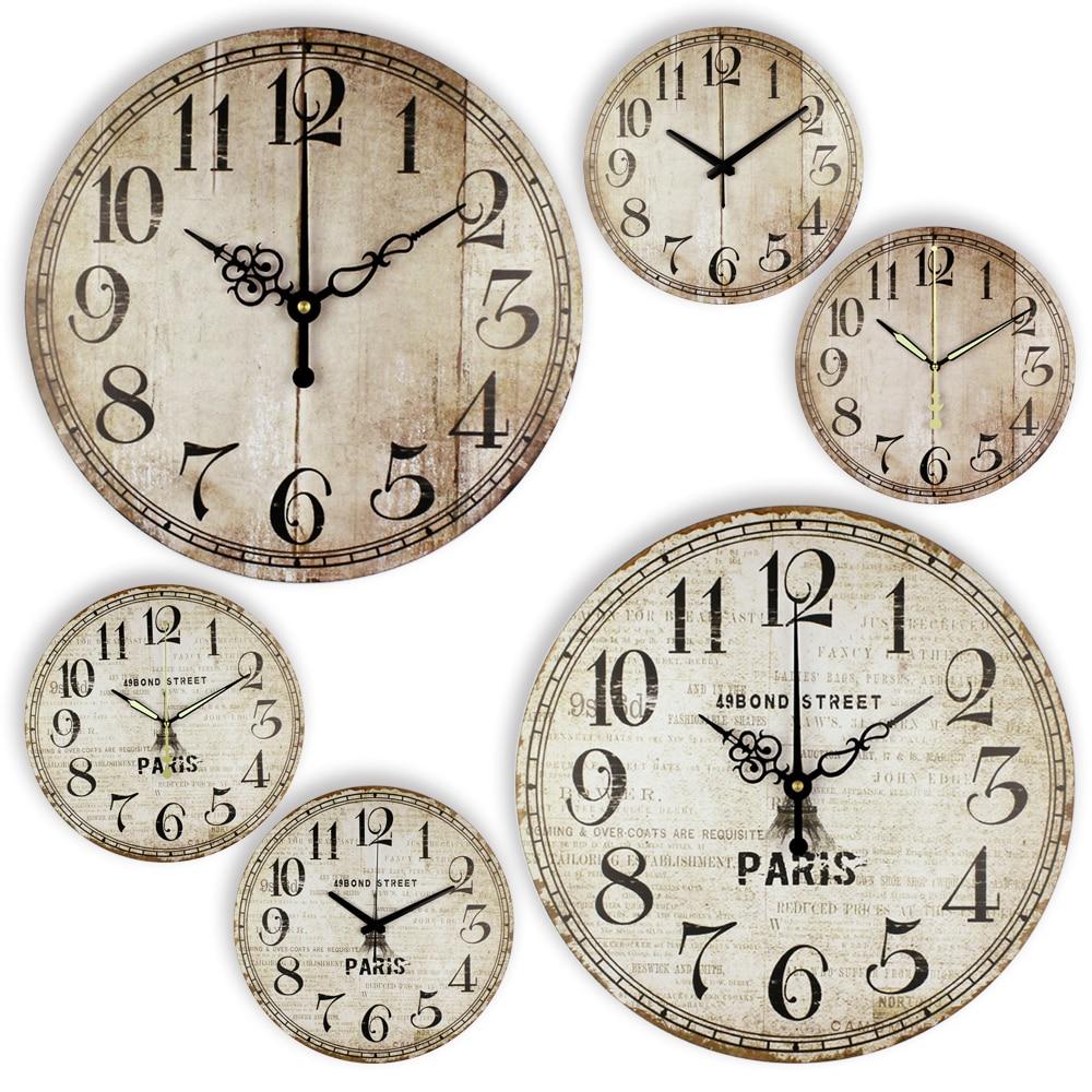US $15.72 36% OFF|Antiken Kurze Große Wanduhren Vintage Stille Design  Durable Küche Büro Wohnzimmer Dekorative Wohnkultur Uhr Wand Uhr-in  Wanduhren ...