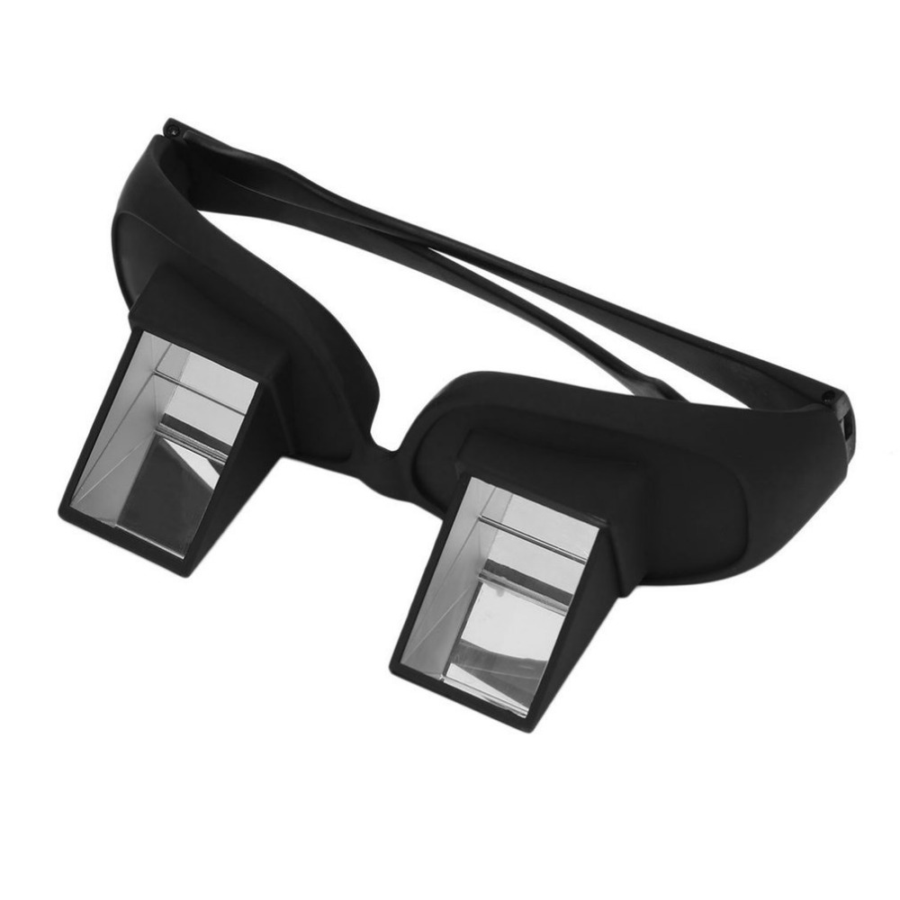 Amazing Lazy Periscope Horizontal Reading TV Sit View Glasses On Bed Lie Down Bed Prism Spectacles Lazy Glasses Smart Glasses(China)