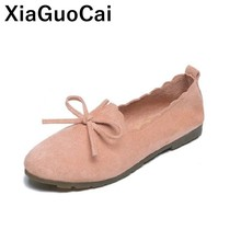 Women Shoes Loafers Spring Summer Female Flats Simple Soft Ballet Footwear Doug Shoes Slip On Ladies Gommino 2019 New Arrival