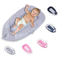 Latest Baby Sleep Nest Bed Removable Newborn Protector Cushion Cotton Infant Crib Cradle Babies Cot Bassinet High Quality