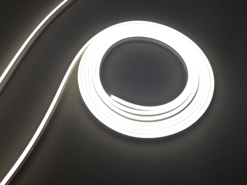 24VDC 9 Вт 5 м/рулон яркий светодиодный прожектор неоновые полоски горизонтальный изгиб гибкие теплые белые светодиодные неоновые полосы для офиса - 3