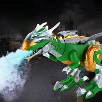 Electric Spray Dinosaur Robot Model Toy with Light Fantastic design mist spray function. Children Education Toys