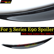 For BMW E90 E91 Spoile tail Rear Trunk wing Ride style Carbon fiber 318i 320i 325i 328i 330i 335i tail Rear Spoile Wing 2005-11 цены онлайн