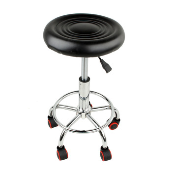 Salon Rolling Stool Tattoo Massage Spa Chair Height Adjustable Stool For Bathroom Tool Rolling Bar Stools with 5 wheels