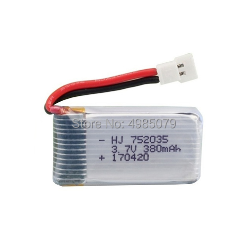 <font><b>3.7v</b></font> <font><b>380mAh</b></font> <font><b>Lipo</b></font> <font><b>Battery</b></font> for RC Drone SYMA D360 Lithium <font><b>Battery</b></font> Replacement Part Quadcopter Accessory image