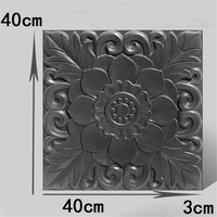 Concrete Art Craft Garden Brick Road Paving Mold Courtyard Embossed Flower Shadow Wall Paving Cement Path Maker Mould