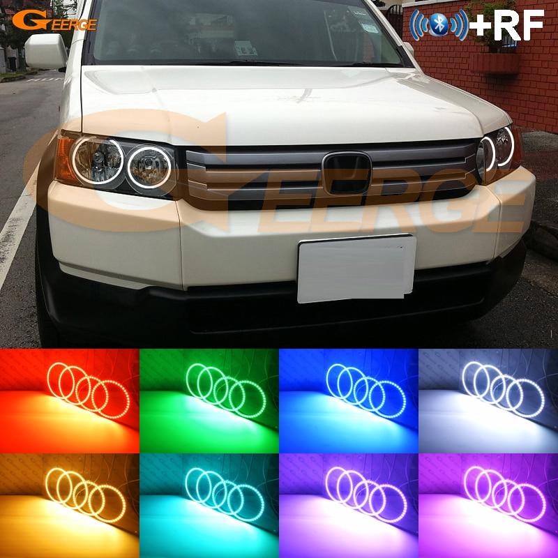 ホンダクロスロード 2007 2008 2009 2010 RF Bluetooth コントローラマルチカラー超高輝度 RGB Led エンジェル · アイズヘイローリングキット  グループ上の 自動車 &バイク からの カーライトの組み立て の中 1