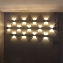 Indoor LED wall light 3W aluminum sconce Surface mounted Modern decorative lamp