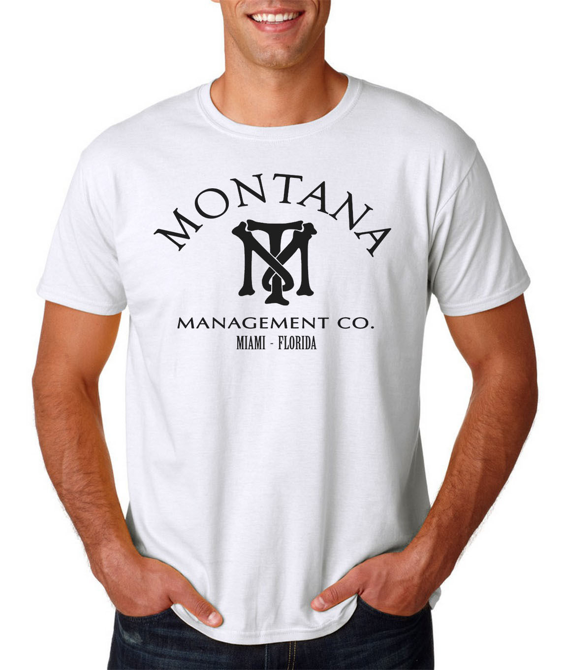 2019 Fashion Montana Management Co. T-shirt - Scarface - The World Is Yours Tony Gangster Mob 2017 Fashion Short Sleeve Black T Shirt Wide Varieties