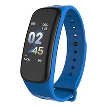 New C2 Smart Bluetooth Bracelet Large Curved Screen Upgrade Version Sports Movement Heart Rate Color Blood Press