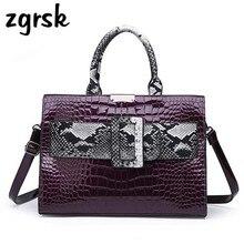 Luxury Women Womens Large Handbags Snake Print Designer Woman Bag Pu Leather Brand Lady Shoulder Messenger Bags Handbag Bolsos