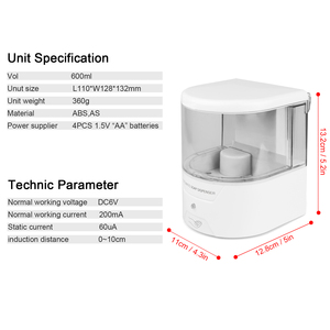 Image 5 - 600ml distributeur de savon liquide automatique IR capteur distributeur de savon mur sans contact cuisine savon Lotion pompe pour cuisine salle de bain