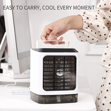 USB Mini Portable Air Conditioner fan Humidifier Purifier with remote Desktop Cooling Fan Cooler hand Office Home