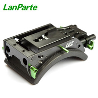 LanParte 15mm Camera Shoulder Support with V lock and Soft Shoulder Pad for camera rig kit