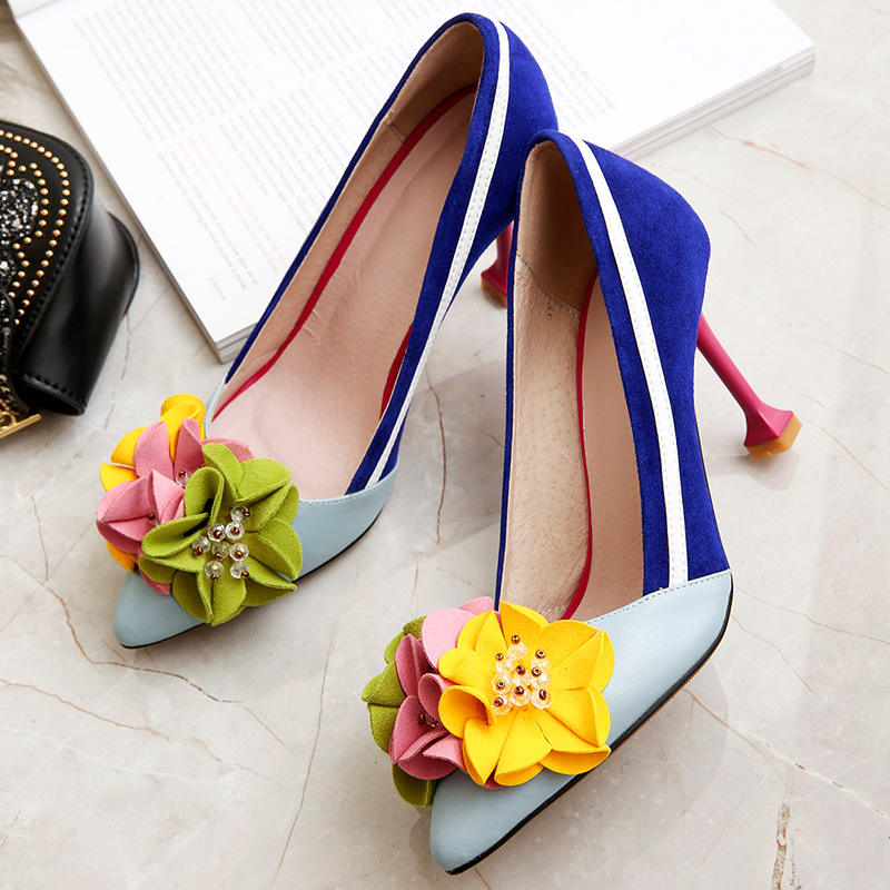 Cuir Chaussures Ventilation Haute Blue Slip Sur Bleu Sexy De 9cm Stiletto Cm Pointu 2019 7cm Bout Dames amp; Creux Femmes 7 Mariage Pompes En Talons blue 9 Femme H1x0Sqt
