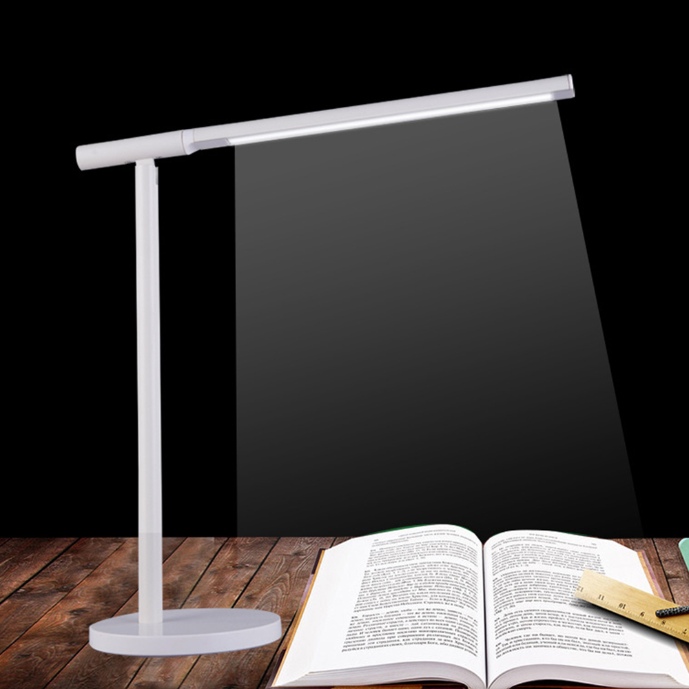 2018 Modern Aluminum LED Desk Lamp Touch Switch Dimmer Rotatable Reading Light Table Lamps for Office Decoration 2Colors