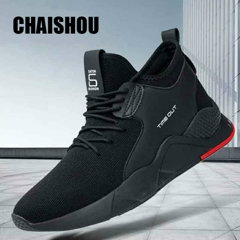 CHAISHOU 2019 new spring shoes men Sneakers Breathable lace-up High Quality Comf