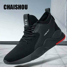 CHAISHOU 2019 new spring shoes men Sneakers Breathable lace-up High Quality Comfortable Non-slip Soft Mesh flat Casual shoes 187