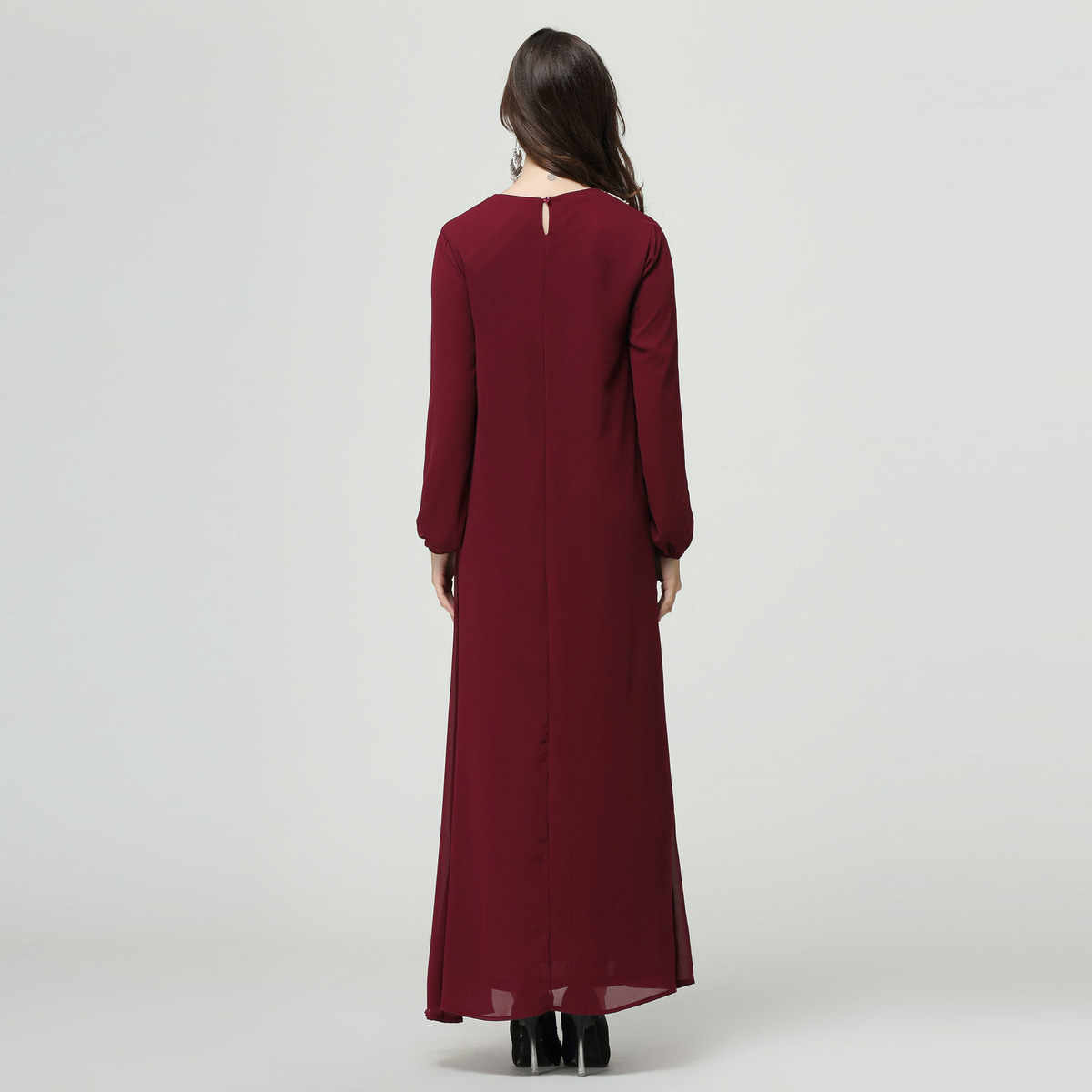 YOCALOR 7XL 이슬람 의류 아랍 로브 레이스 여름 두바이 여성 복장 플러스 사이즈 6l 긴 맥시 소녀 Abaya Jalabiya 이슬람 Kaftan