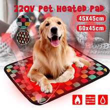 Pet cão gato inverno quente elétrica aquecida almofada tapete para animais de estimação à prova dwaterproof água pelúcia cama cobertor aquecedor tapete almofada aquecimento