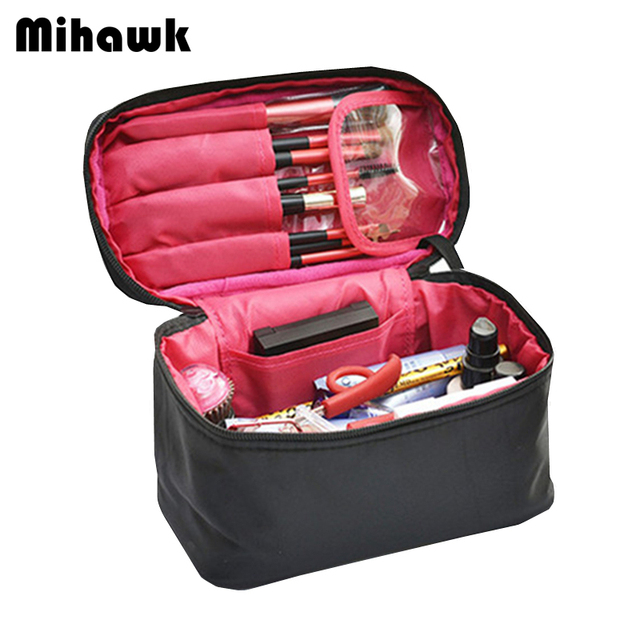 Mihawk Large Vanity Cosmetic Bag Case Travel Organizer Functional Makeup Pouch Beautician Toiletry Set Accessory Supply