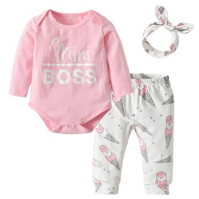 5a9b528cb3a Detail Feedback Questions about mini BOSS 3PCS Set Baby Girls Pink ...