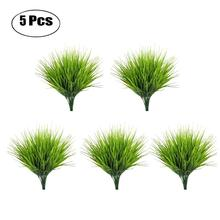 5PCS/Set Artificial Grass Plant Decorative Bendable Fake Decoration Supplies For Home Office