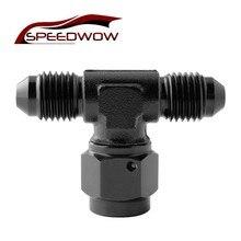 Connector Transform-Fitting Oil-Hose Swivel-On Tee-Female AN4 SPEEDWOW Adaptor Aluminum-Alloy