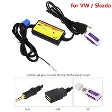 DC 12 V Car Audio Interfaccia MP3 USB/Adattatore SD 8 P Collegare Smart Digital Design Auto Radio CD changer per VW/Skoda