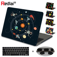 For Macbook 12 Air Pro Retina 13 15 2019 A1932 A2159 Laptop Case Sleeve Innovative Outer Space Print Hard Case+Keyboard Cover