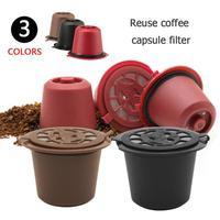 1 stücke 4 stücke Kaffee Filter Mehrweg Nachfüllbare Kaffee Kapsel Filter für Nespresso Mit Löffel Pinsel Küche Zubehör-in Kaffeefilter aus Heim und Garten bei