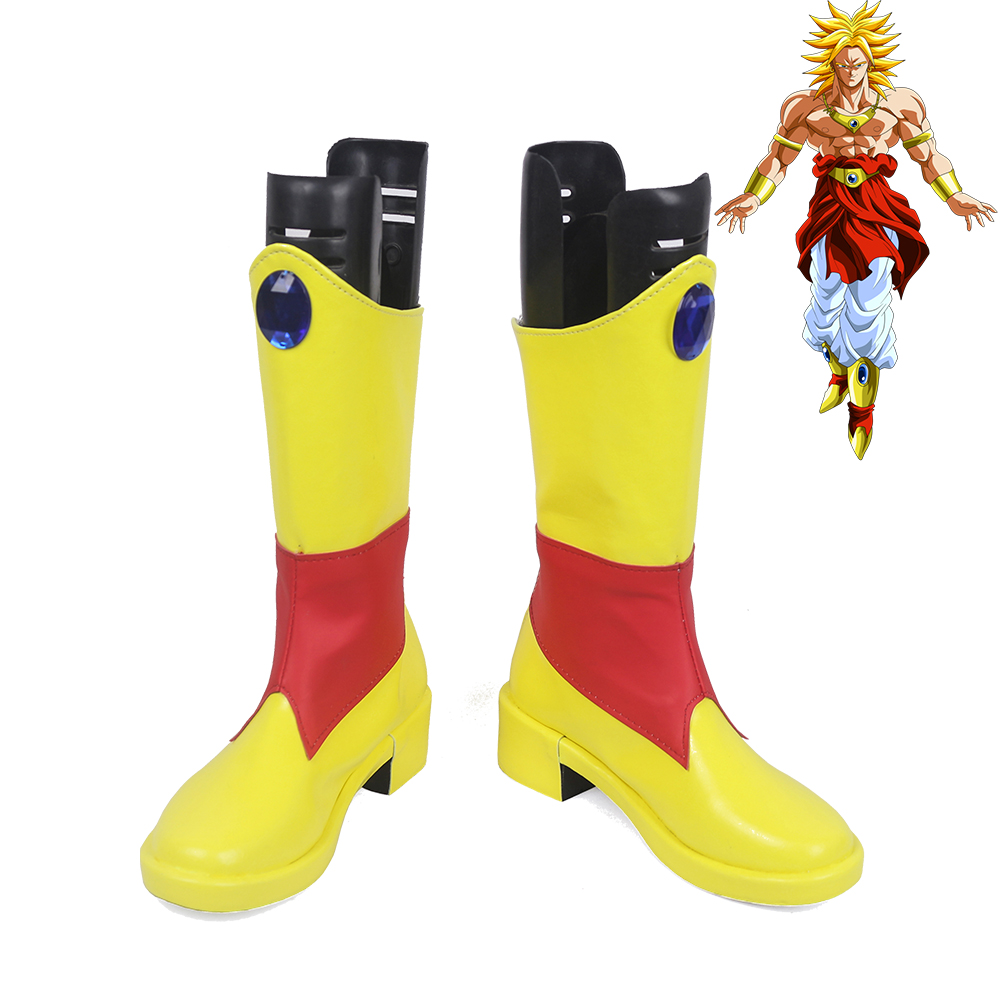 Dragon Ball Super Saiyajin Broly Golden Cosplay Shoes Men Boots