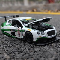 Scale 1:24 Bentley GT3 Car Model Toy For Kids Christmas Gift Drop Shipping Alloy Super Running Car Model Genuine Collection