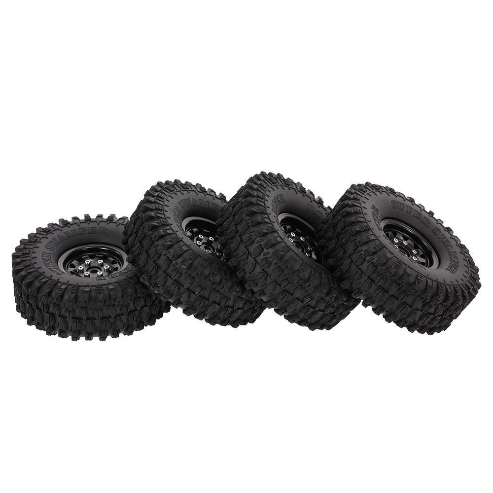 4 pcs AUSTAR RC Auto 5020 + 617BK 120mm Velg Rubber Tyre Wiel Set voor 1/10 HSP HPI traxxas TRX-4 SCX10 RC4 D90 RC Rock Crawlers