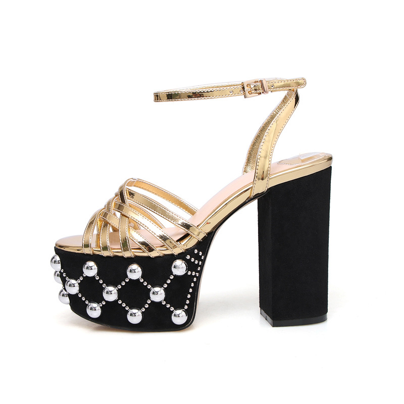 Carole Levy Fashion Platform Crystal Embellished Women Sandals 2019 New Ladies Shoes in Square High Heels Party SpringCarole Levy Fashion Platform Crystal Embellished Women Sandals 2019 New Ladies Shoes in Square High Heels Party Spring