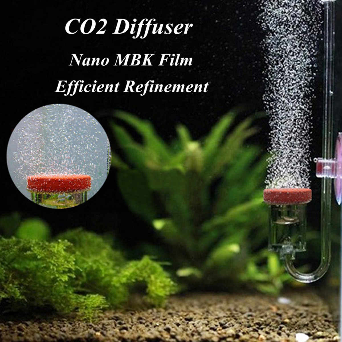 Stainless Steel CO2 Diffuser Aquarium Fish Tank Plant