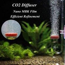 Difusor de co2 para aquário 4 em 1, acrílico transparente 5mm de espessura de co2 dióxido atomizador válvula de reposição