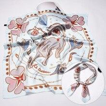 Unique 70*70cm 12 Constellation Silk Square Scarf Kerchief Decoration Tarot Series New Design Women Head Luxury Brand Bag Ribbon