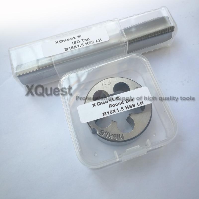 2PCS Left Hand Round Die And Tap Set M16 M16X2 LH Metric Fine Thread Plug Machine Taps Cutting Dies M16X1.5 M16X1.25 M16X1 MM