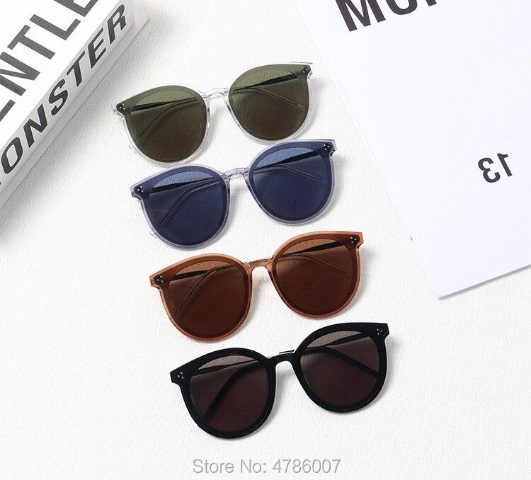 Nouvelle mode ronde doux lunettes de soleil femmes 2019 Vintage jACK HI marque Designer noir vert surdimensionné cadres nuances femme Uv400