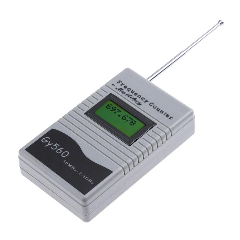 Digital Frequency Counter 7 DIGIT LCD Display For Two Way Radio Transceiver GSM 50 MHz-2.4 GHz GY560 Frequency Counter Meter