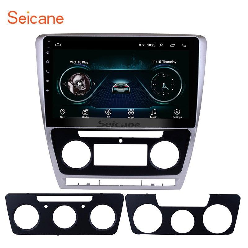 Seicane 10.1 Android 8.1 HD 2Din Car Radio GPS Stereo for 2007 2014 VW Volkswagen SKODA Octavia Bluetooth Head Unit Mirror SWC