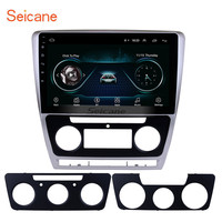 Seicane 10.1 Android 8.1 HD 2Din Car Radio GPS Stereo for 2007 2014 VW Volkswagen SKODA Octavia Bluetooth Head Unit Mirror SWC