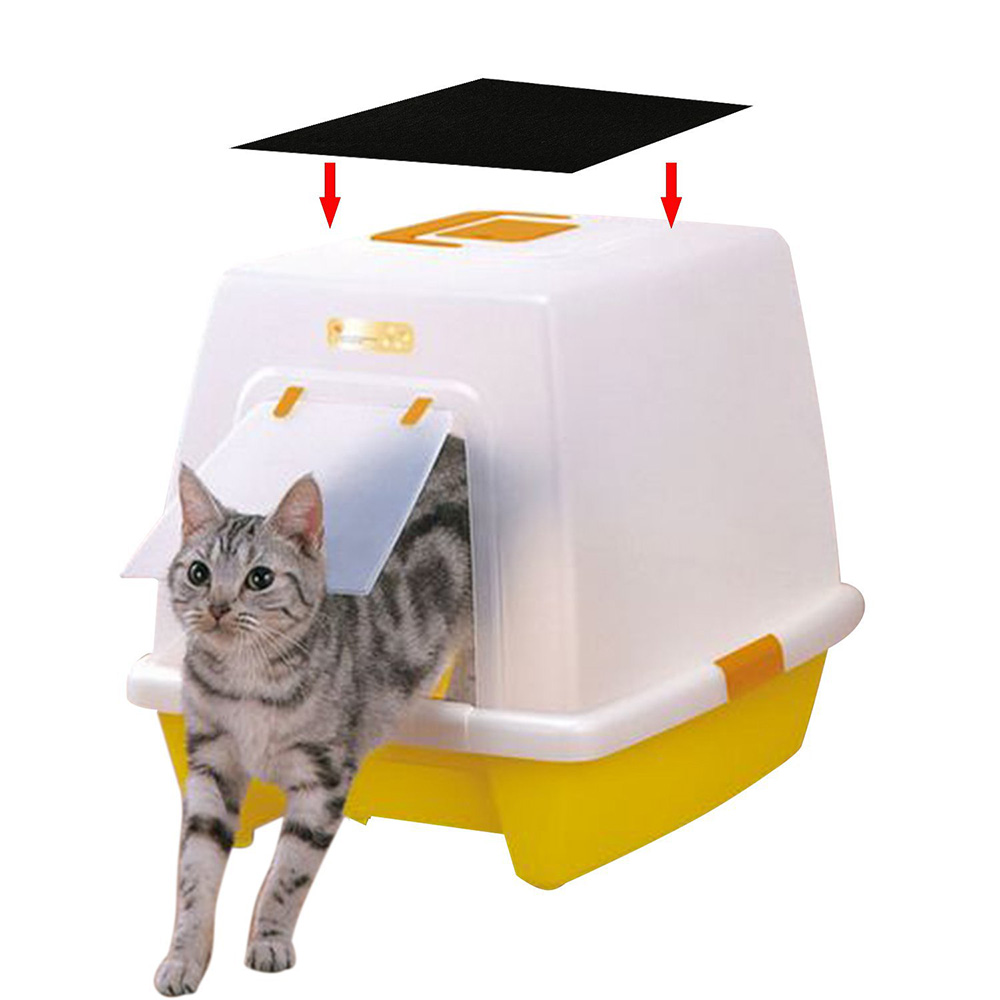 Portable Dog Cat Portable Carbon Filter Water Bottle: 4pcs Portable Cat Litter Box Litter Box Charcoal Filter