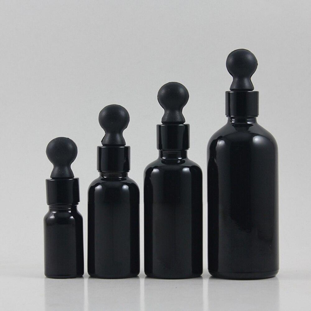 atacado 50 pcs vazio 50 ml conta gotas frasco de vidro com tampa conta gotas preto