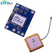 цена на DIYamll GPS Module with Flash GPS Active Ceramic Antenna for Arduino Raspberry Pi